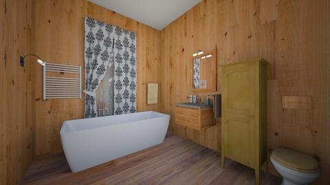 dom drewniany - Bathroom  - by Brajan Live