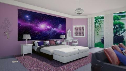 Violet Bedroom - Bedroom - by siscauw
