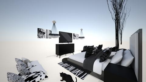 The Black Room TBR - Classic - Bedroom  - by Little_Laya