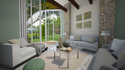 serenity living - Rustic - Living room  - by Senia N