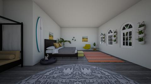 yellow bedroom - Modern - Bedroom - by minnow2020