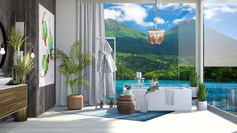Lily Pad Tropics Bath - Bathroom  - by GinnyGranger394