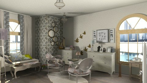 S - Retro - Living room  - by ClaUdiA N