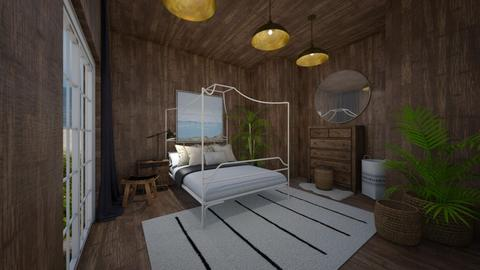 Cabin Bedroom - Rustic - Bedroom  - by evabarrett