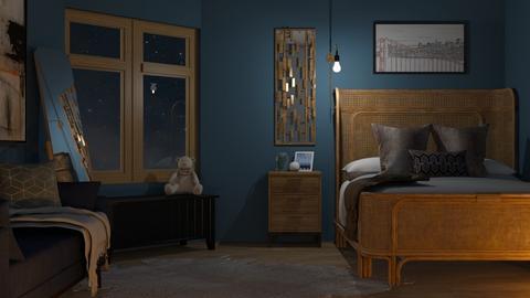 blue night - Bedroom  - by RaeCam