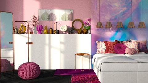 pink bedroom - Modern - Bedroom  - by melissa1808