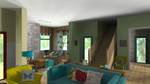 The Duncan House - Living room - by annanani