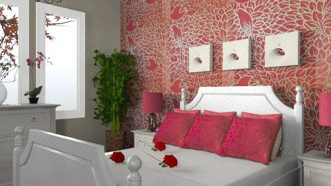 Romance 3 - Modern - Bedroom - by Cathd0411
