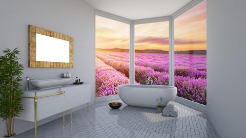 lavender bathroom - Bathroom - by dia17a