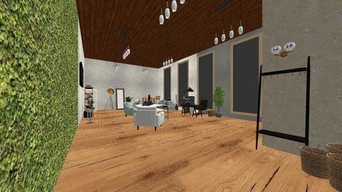 estudio final - Rustic - Office  - by ElizabethZavala