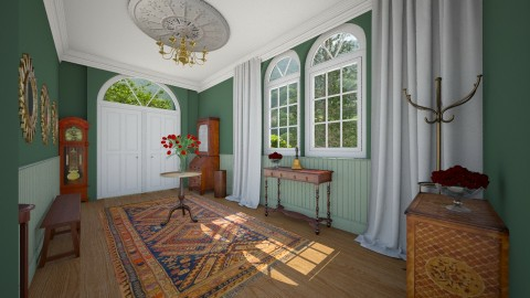 Green House Hallway - Classic - by camilla_saurus