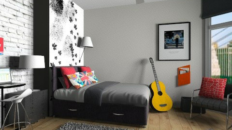 Teen bdr - Modern - Bedroom  - by Tuija