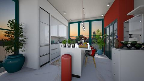 modern colorful kitchen - Kitchen - by MissREZA