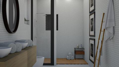 Minimalist Bathroom - Minimal - Bathroom  - by NEVERQUITDESIGNIT