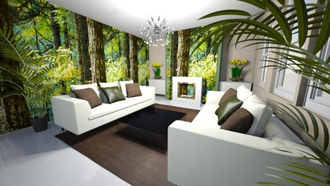 the forest room - Country - Living room  - by Mark T