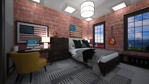 American Boy - Bedroom  - by graciecbogardus