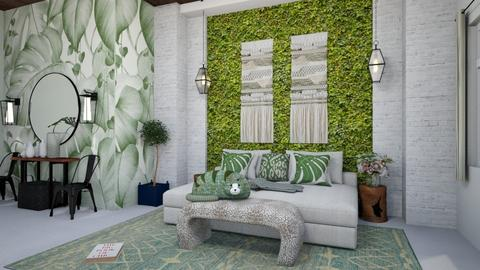 Sage Green Bedroom - by matina1976