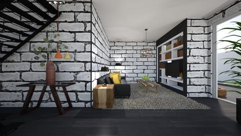 White - Living room  - by nanabpf