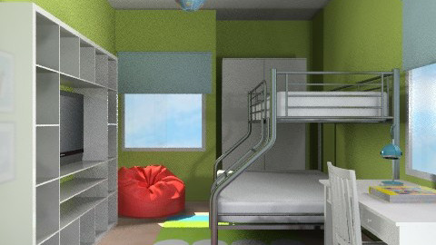 Sharminet Kids/Guest Bed3 - Eclectic - Bedroom  - by channing4