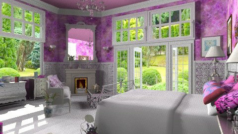 Fushia and silver - Classic - Bedroom  - by Bibiche