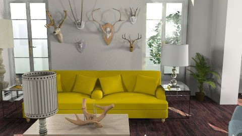 antler eclectic - Eclectic - Living room - by lolikawaii