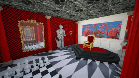 Queen of Hearts - Classic - Living room - by interiordesignmajor013