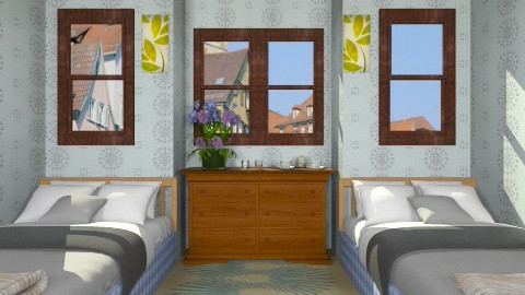blue lake - Rustic - Bedroom  - by Veny Mully