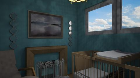 Flat 24 Baby Blues - Rustic - Kids room  - by RaeCam