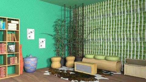 Nature Room - Rustic - Living room  - by Abracadabra