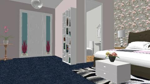 Pink Floral - Vintage - Bedroom  - by BethenAlice