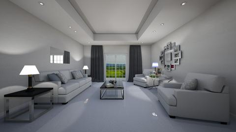 white lounge - Living room  - by RhodriSimpson13