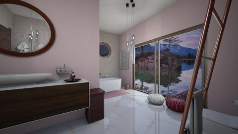 Cherry Blossom Bathroom - Bathroom  - by AmeliaGrangerWeasley