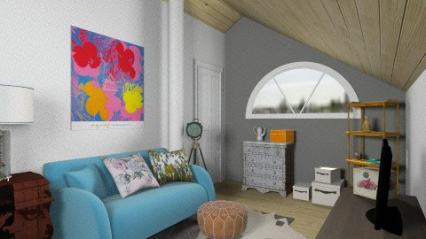White Attic loft - Vintage - Living room - by natalie_biggane145
