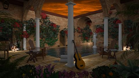 Design 456 Evening in Old Mexico - Garden - by Daisy320