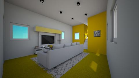 Yellow And  White 2 - Living room - by Itsjustme1