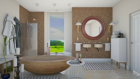 Natural_White - Minimal - Bathroom  - by janip