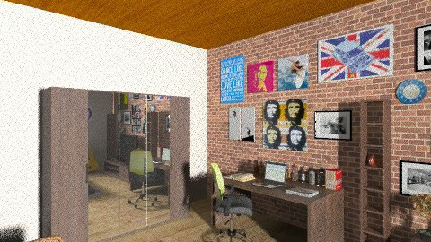 Projeto Quarto - Rustic - Bedroom  - by edumendes