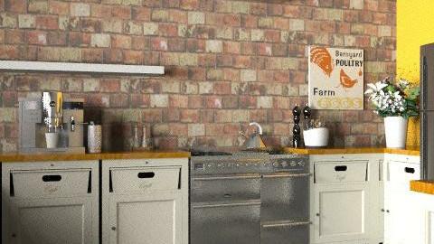 dream kitchen - Rustic - Kitchen  - by victoriacoburn