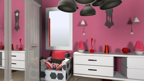 red theme bedroom - Glamour - by jamilac