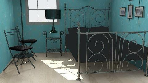 Van Gogh retro blue - Retro - Bedroom  - by mywayyy