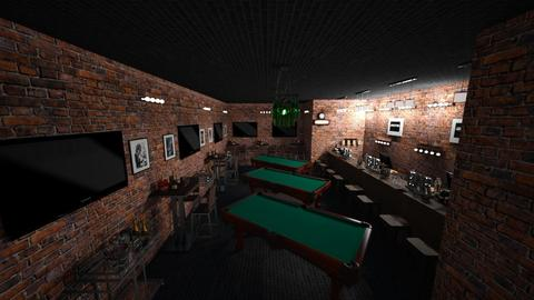 Bar and Billiards  - Retro - by kellynazha