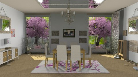blossom living room inspired by ceiling mirror  - Classic - Living room  - by CARMEND70
