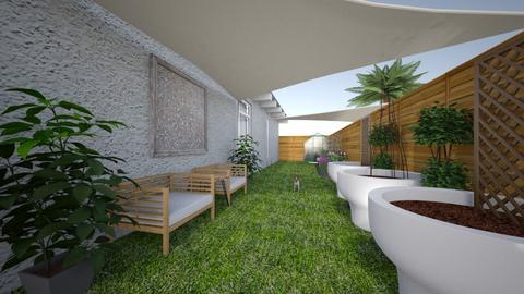 narrow side yard 2 - Modern - Garden  - by kay91designs