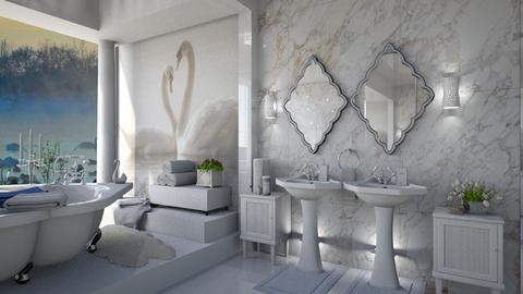 Swan  - Bathroom  - by ZsuzsannaCs