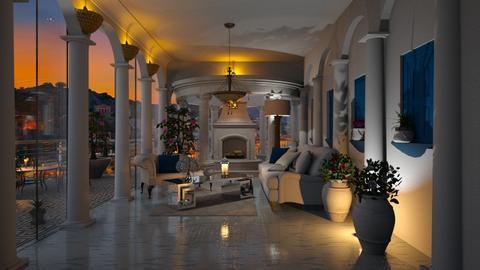 Greek Living home - Living room  - by TheKalaniPlays