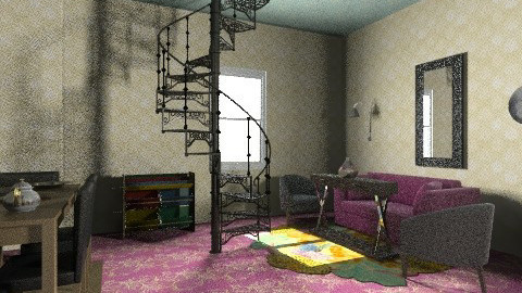 beautiful 3d room - Glamour - Living room  - by shely