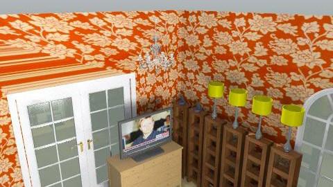 firstflatroom - Retro - Living room  - by fenk88