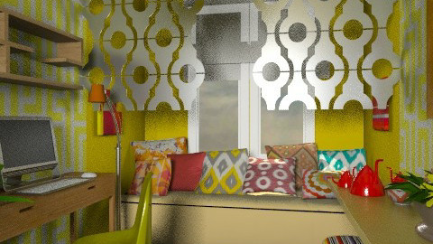 modern ikat  - Eclectic - Bedroom  - by chania