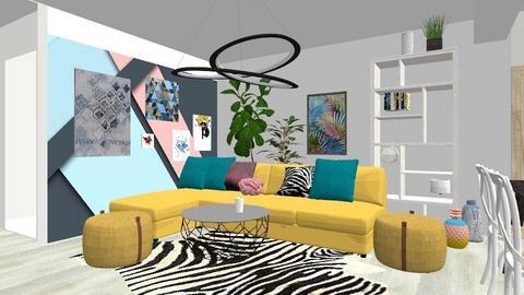 Yellow sofa - Modern - Living room  - by Adelinas56