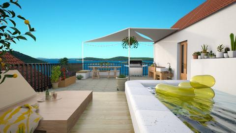 rooftop terrace - Garden  - by marinmarin